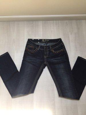 Antiquet Rivet Jeans slim fit blu scuro