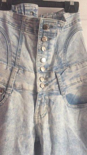 damen Jeans blau weiss