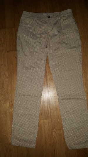 Chinos sand brown-white