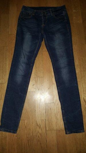 Tube jeans blauw