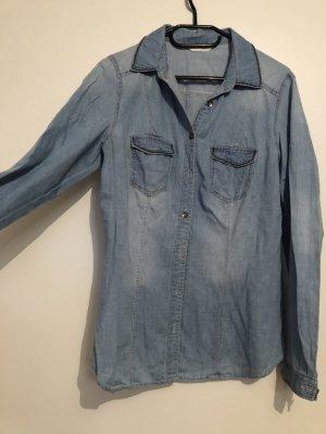 Damen Jeans Hemd Business Bluse