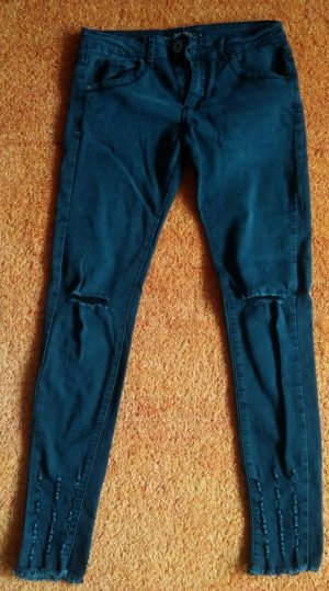 7/8 Length Jeans anthracite cotton