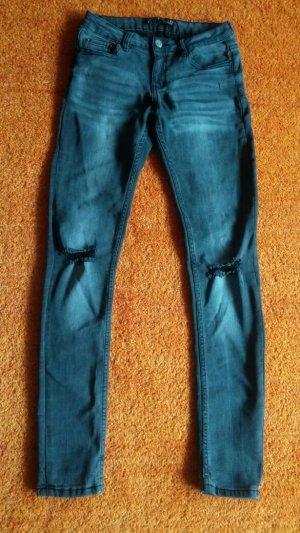 7/8 Length Jeans dark grey cotton