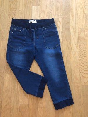 Jeans 3/4 bleu foncé-bleu