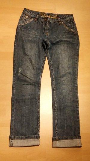 Damen Jeans Hose GLAMOUR WUNDERSCHÖNE LEICHTE Gr. 38 in Blau Denim  Jeans TOP