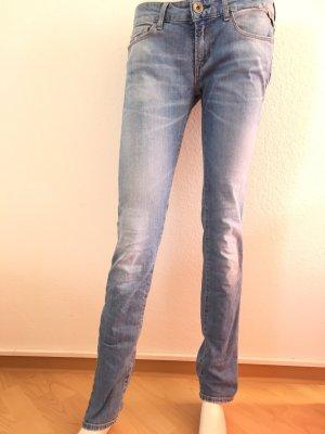 Damen Jeans Hose Röhrenjeans Skinny Von Replay Gr. 28 Hellblau
