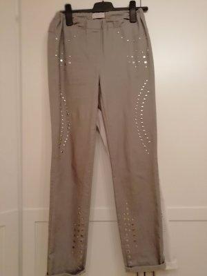 Laura Kent Jeans a zampa d'elefante argento Cotone