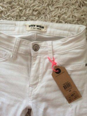 Damen Jeans in weiß abzugeben
