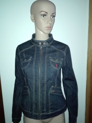 Damen Jeans-Jacke in dunkel blau Farbe.