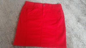 M&S Denim Skirt red