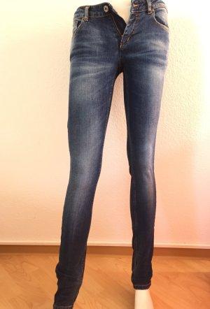 Damen Jeans Röhrenjeans, Stretchhose Von Hugo Boss Gr. 27 / 34 Blau