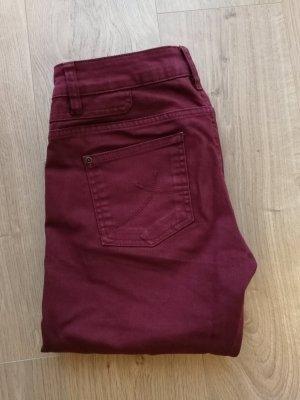 Damen Jeans s.Oliver Slim Fit Normaler Bund weinrot 36/32