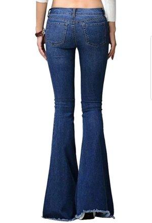 Jeans bootcut multicolore tissu mixte