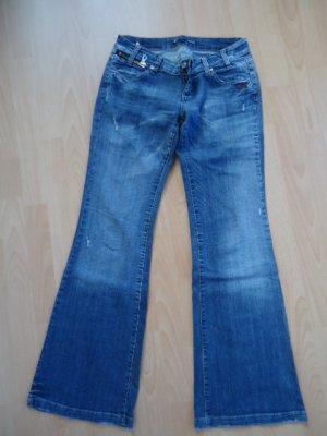 Damen Jeans Schlaghose von Gang in Gr. 29 im used look