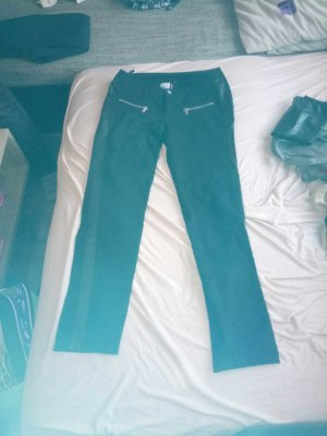 Damen Jeans Schwarz mit Leder