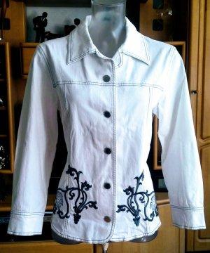 Damen Jeans Sommer Blazer Gr.38 in Weiß von Faber NW