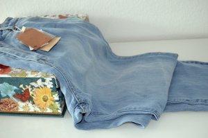Damen Jeans Tencel High Waist Gr. 40,blau, neu Bershka