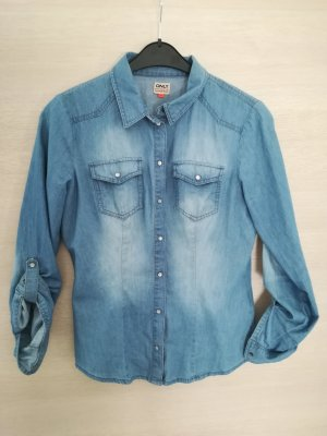 Only Jeans blouse staalblauw