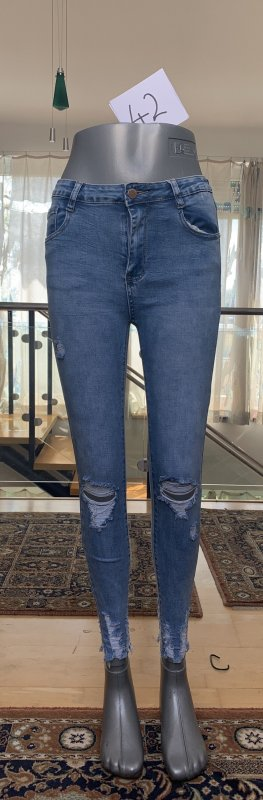 High Waist Jeans cornflower blue