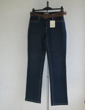 John Baner Pantalón de cinco bolsillos azul oscuro Algodón