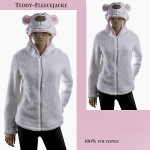 Hooded Sweater white mixture fibre