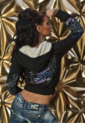 Damen Kapuzenjacke Sweat warme Jacke Übergangsjacke Teddyfell Plüsch Pullover 38 40