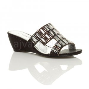 Plateauzool sandalen zwart Synthetisch