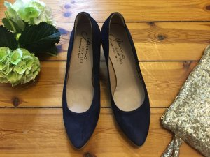 High-Heeled Sandals dark blue