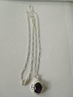 Chain zilver-grijs-paars