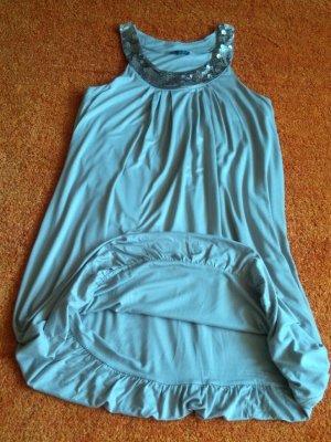 Damen Kleid Ärmellos Pailetten Gr.M in Beige von Grain de Malice NW