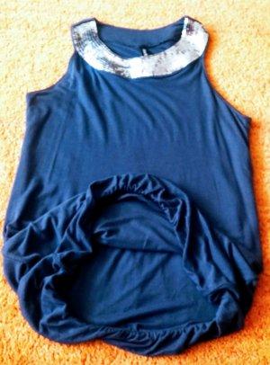 Damen Kleid Ballon Tunika Gr.S in Grau-Silber von Madonna NW