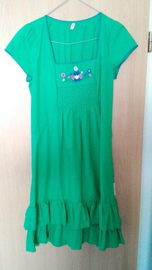 Damen Kleid Blutsgeschwister Farbe grün