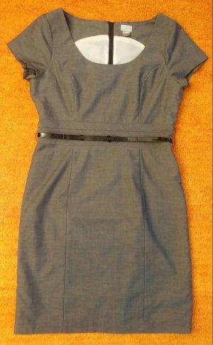 Damen Kleid gefüttertes Cocktailkleid Gr. 42 in Grau von H&M NW