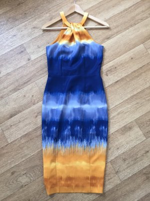 H&M Pencil Dress dark blue-yellow