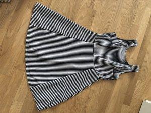 Damen Kleid schwarz gestreift neu
