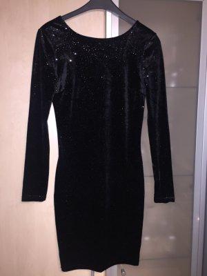 Damen Kleid schwarz schimmert Gold Gr 36 S Amisu Neu