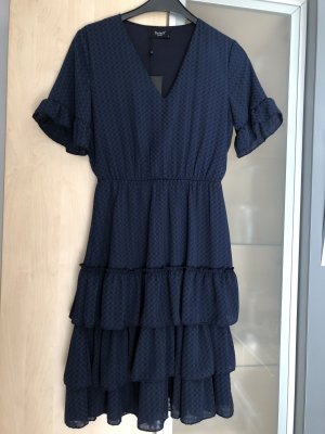 Damen Kleid Sisters Point Gr 36 S Blau Navy Volant Rock Neu mit Etikett