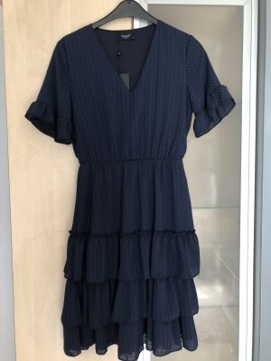 Sisters point Volante jurk donkerblauw-blauw