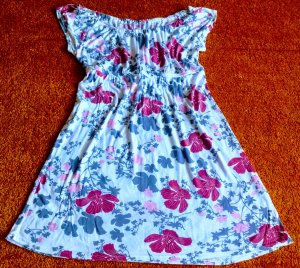 Damen Kleid Sommer Empire Tunika Gr.M Multicolor Blumenprint