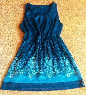 Damen Kleid Sommer Lagenlook Casual Gr.42 in Blau von Zero