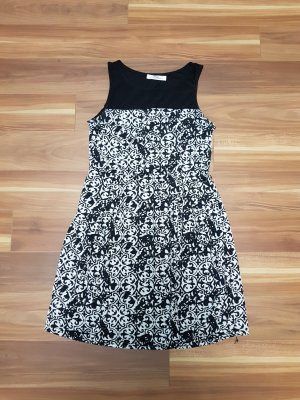 Damen Kleid Sommerkleid in schwarz-weiß Gr. S