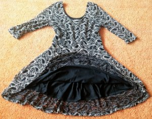 Apricot Lace Dress black-oatmeal cotton