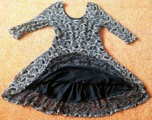 Apricot A Line Dress black-oatmeal cotton