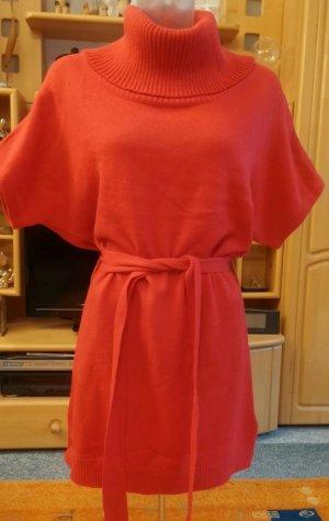 Damen Kleid Strick Kuschelig warme Tunika Gr. 38 in Rot von H&M Dividet