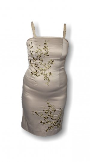 Damen Kleid, Vero Moda, Gold, Blumendesign, edel, luxuriös, Gr. 34