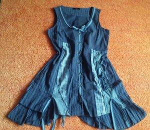 Damen Kleid Verspielter Materialmix Lagenlock Gr.S Mehrfarbig von yest