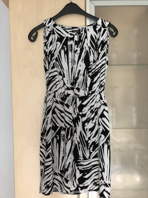 Damen Kleid von Tom Tailor Gr 34 schwarz weiß