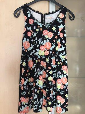 Damen Kleid von Tom Tailor Gr 36 S bunt geblümt wie Neu