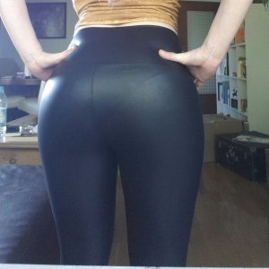 Leather Trousers black polyester