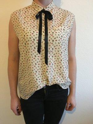 Damen kurzärmlige Bluse Blumenmuster S mit scheide trf by ZARA